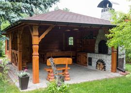 Altany Ogrodowe Drewniane Z Grillem K2 Altany
